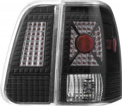 Headlights & Tail Lights - Tail Lights - APC - Lincoln Navigator APC Diamond Cut Taillights with Black Housing - 407592TLB