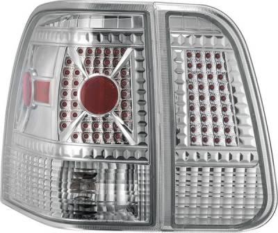 Headlights & Tail Lights - Tail Lights - APC - Lincoln Navigator APC Diamond Cut Taillights with Chrome Housing - 407592TLC