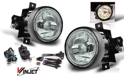 Headlights & Tail Lights - Fog Lights - WinJet - Honda Element WinJet OEM Fog Light - Smoke - Wiring Kit Included - WJ30-0139-11
