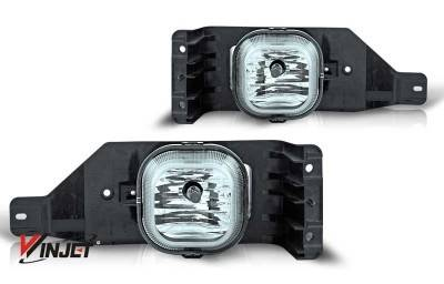 Headlights & Tail Lights - Fog Lights - WinJet - Ford F250 WinJet OEM Fog Light - Smoke - WJ30-0151-11
