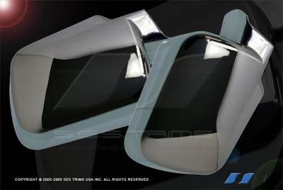Titan - Mirrors - SES Trim - Nissan Titan SES Trim ABS Chrome Mirror Cover - MC106F