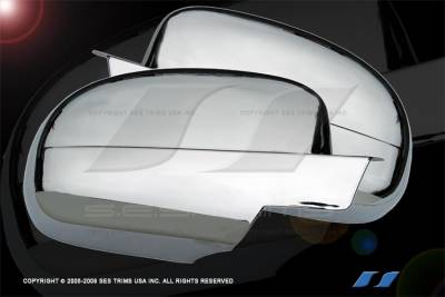 Escalade - Mirrors - SES Trim - Cadillac Escalade SES Trim ABS Chrome Mirror Cover - MC110F