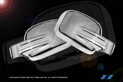 Liberty - Mirrors - SES Trim - Jeep Liberty SES Trim ABS Chrome Mirror Cover - MC114F