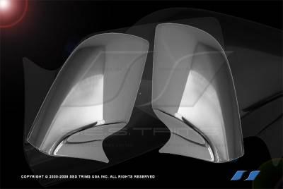 Altima - Mirrors - SES Trim - Nissan Altima SES Trim ABS Chrome Mirror Cover - MC115F