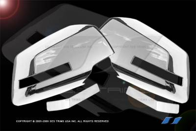 Acadia - Mirrors - SES Trim - GMC Acadia SES Trim ABS Chrome Mirror Cover - MC121F
