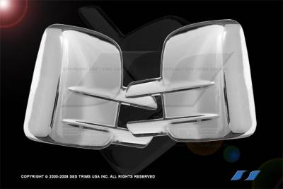 Silverado - Mirrors - SES Trim - Chevrolet Silverado SES Trim ABS Chrome Mirror Cover - MC123F