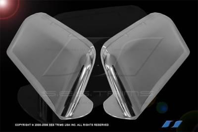 Edge - Mirrors - SES Trim - Ford Edge SES Trim ABS Chrome Mirror Cover - MC126