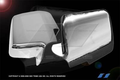 Explorer - Mirrors - SES Trim - Ford Explorer SES Trim ABS Chrome Mirror Cover - MC129