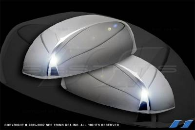 Sierra - Mirrors - SES Trim - GMC Sierra SES Trim ABS Chrome Mirror Cover - MC145