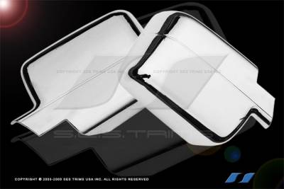 F150 - Mirrors - SES Trim - Ford F150 SES Trim ABS Chrome Full Mirror Cover - MC146