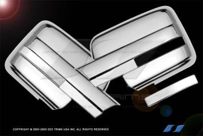 F150 - Mirrors - SES Trim - Ford F150 SES Trim ABS Chrome Full Mirror Cover - MC147