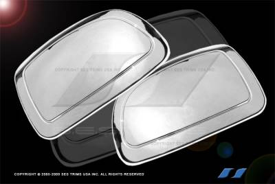 Silverado - Mirrors - SES Trim - Chevrolet Silverado SES Trim ABS Chrome Half Mirror Cover - MC505