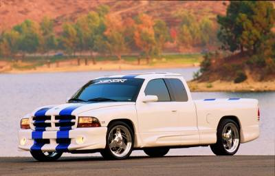 Durango - Front Bumper - Xenon - Dodge Durango Xenon Front Air Dam with Light Openings - 5841