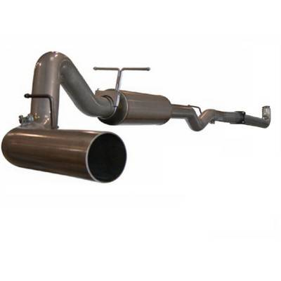 Exhaust - Custom Fit Exhaust - aFe - GMC Sierra aFe Large Bore HD Turbo-Back Exhaust System Aluminum - 49-14003