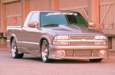 S10 - Front Bumper - Xenon - Chevrolet S10 Xenon Front Bumper Cover with Aluminum Mesh & Round Light Openings - 10291