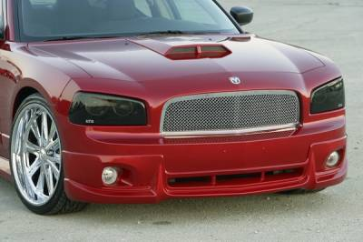 Charger - Front Bumper - Xenon - Dodge Charger Xenon Air Dam with Light Openings - 12601