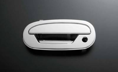 Suv Truck Accessories - Chrome Billet Door Handles - All Sales - All Sales Chrome Billet Door Handle Replacements - Left Side with Lock and Right Side without Lock - 501C