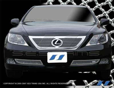 Grilles - Custom Fit Grilles - SES Trim - Lexus LS SES Trim Chrome Plated Stainless Steel Mesh Grille - MG101