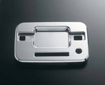 Suv Truck Accessories - Chrome Billet Door Handles - All Sales - All Sales Chrome Billet Door Bucket Handles - Left Side with Lock and Keypad Cutout - Right Side without Lock - 507CK