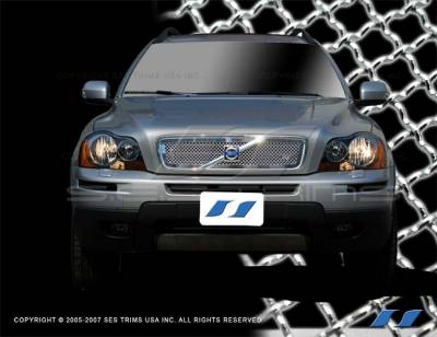 Grilles - Custom Fit Grilles - SES Trim - Volvo XC90 SES Trim Chrome Plated Stainless Steel Mesh Grille - MG102