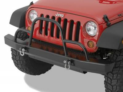 Wrangler - Front Bumper - Warrior - Jeep Wrangler Warrior Rock Crawler with Brush Guard & D-Rings - 59051