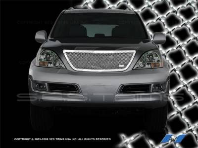 Grilles - Custom Fit Grilles - SES Trim - Lexus GX SES Trim Chrome Plated Stainless Steel Mesh Grille - MG111