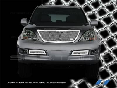 Grilles - Custom Fit Grilles - SES Trim - Lexus GX SES Trim Chrome Plated Stainless Steel Mesh Grille - MG111B