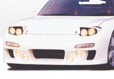RX7 - Front Bumper - VIS Racing - Mazda RX-7 VIS Racing Knightsport Front Bumper Cover - Fiberglass - 490094