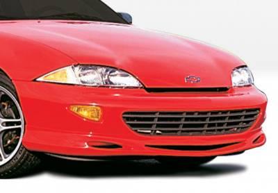 Cavalier 2Dr - Front Bumper - VIS Racing - Chevrolet Cavalier VIS Racing Custom Style Front Lip - Polyurethane - 890045
