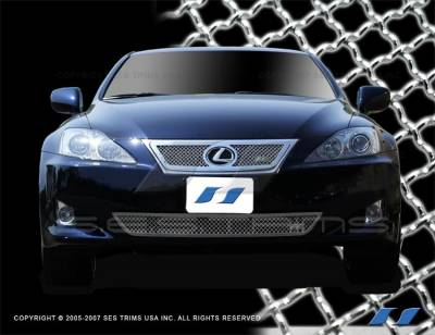 Grilles - Custom Fit Grilles - SES Trim - Lexus IS SES Trim Chrome Plated Stainless Steel Mesh Grille - MG139A-B