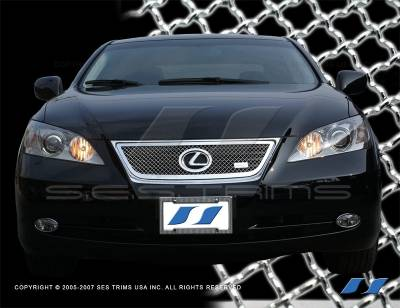 Grilles - Custom Fit Grilles - SES Trim - Lexus ES SES Trim Chrome Plated Stainless Steel Mesh Grille - MG148