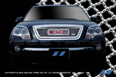 Grilles - Custom Fit Grilles - SES Trim - GMC Acadia SES Trim Chrome Plated Stainless Steel Mesh Grille - MG160
