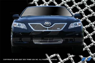 Grilles - Custom Fit Grilles - SES Trim - Toyota Camry SES Trim Chrome Plated Stainless Steel Mesh Grille - MG161A-B