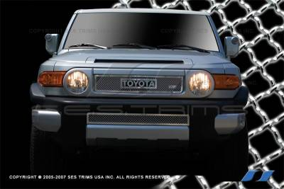 Grilles - Custom Fit Grilles - SES Trim - Toyota FJ Cruiser SES Trim Chrome Plated Stainless Steel Mesh Grille - MG169A-B