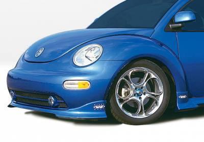 Beetle - Front Bumper - VIS Racing - Volkswagen Beetle VIS Racing W-Type Front Lip - Polyurethane - 890286