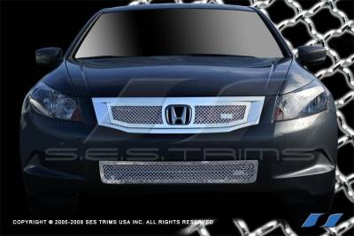Grilles - Custom Fit Grilles - SES Trim - Honda Accord 4DR SES Trim Chrome Plated Stainless Steel Mesh Grille - Bottom - MG189B