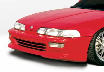 Integra 2Dr - Front Bumper - VIS Racing - Acura Integra 2DR VIS Racing Racing Series Front Lip - Polyurethane - 890312