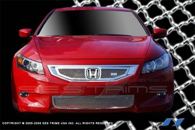 Grilles - Custom Fit Grilles - SES Trim - Honda Accord 2DR SES Trim Chrome Plated Stainless Steel Mesh Grille - MG190