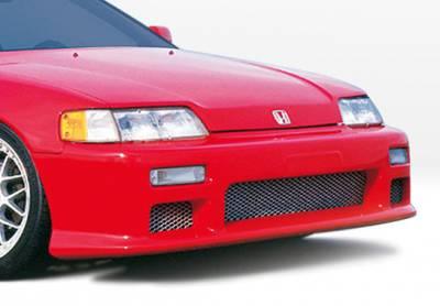 CRX - Front Bumper - VIS Racing - Honda CRX VIS Racing Racing Series Front Bumper Cover - Polyurethane - 890327