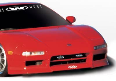 NSX - Front Bumper - VIS Racing - Acura NSX VIS Racing W-Type Front Lip - Polyurethane - 890371
