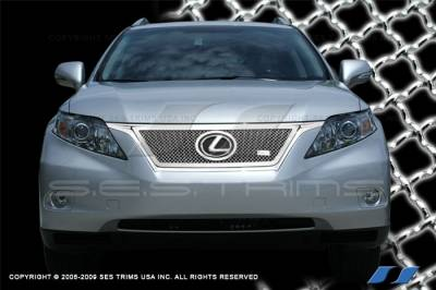 Grilles - Custom Fit Grilles - SES Trim - Lexus RX SES Trim Chrome Plated Stainless Steel Mesh Grille - MG200