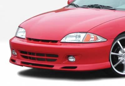 Cavalier 2Dr - Front Bumper - VIS Racing - Chevrolet Cavalier 2DR VIS Racing W-Type Front Lip - Polyurethane - 890436