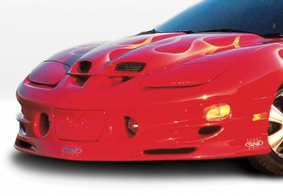Trans Am - Front Bumper - VIS Racing - Pontiac Trans Am VIS Racing W-Type Front Lip - Polyurethane - 890478