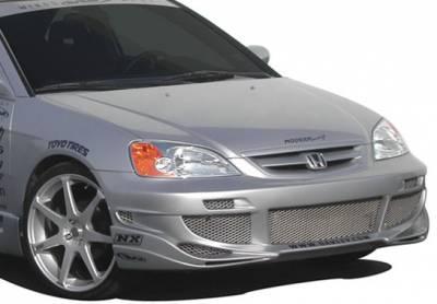Civic 2Dr - Front Bumper - VIS Racing - Honda Civic 2DR & 4DR VIS Racing Avenger Front Bumper Cover - 890568