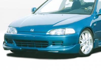Civic 2Dr - Front Bumper - VIS Racing - Honda Civic 2DR & Hatchback VIS Racing G5 Series Front Lip - Polyurethane - 890605