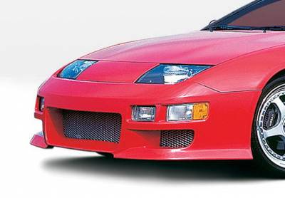 300Z - Front Bumper - Wings West - Nissan 300Z Wings West W-Type Front Bumper Cover - 890682