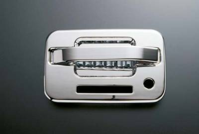Suv Truck Accessories - Chrome Billet Door Handles - All Sales - All Sales Chrome Billet Door Handle Replacements - Left Side with Keypad Lock - Right Side without Lock - 521CK