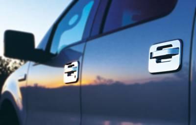 Suv Truck Accessories - Chrome Billet Door Handles - All Sales - All Sales Chrome Billet Door Handle Replacements - Pair - 525C
