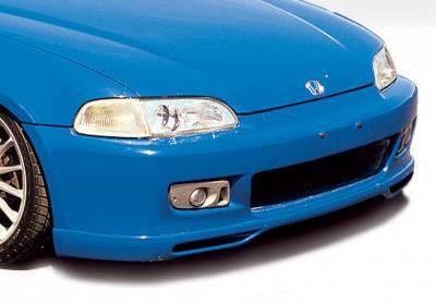 Civic 2Dr - Front Bumper - VIS Racing - Honda Civic 2DR & Hatchback VIS Racing Racing Series Front Lip - Polyurethane - 890854