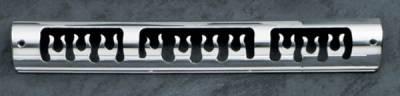 Headlights & Tail Lights - Third Brake Lights - All Sales - All Sales Third Brake Light Cover - Flame Design - Polished - 54015P